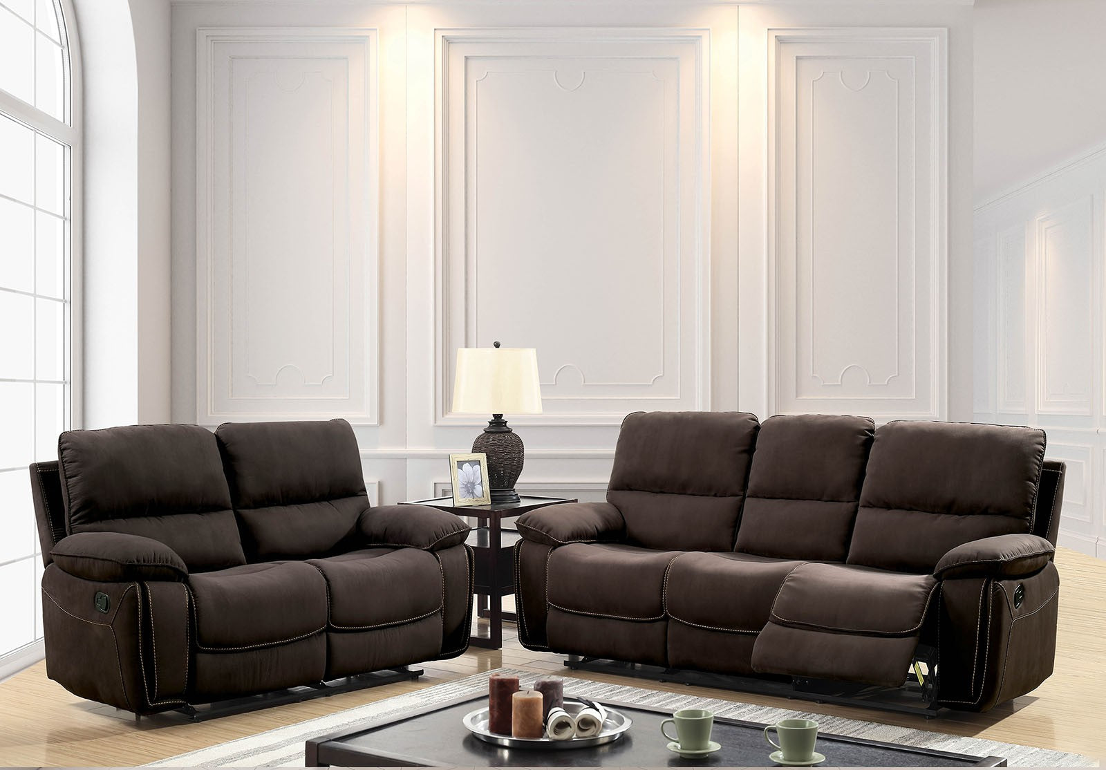 Amaris Dark Brown Contemporary Sofa