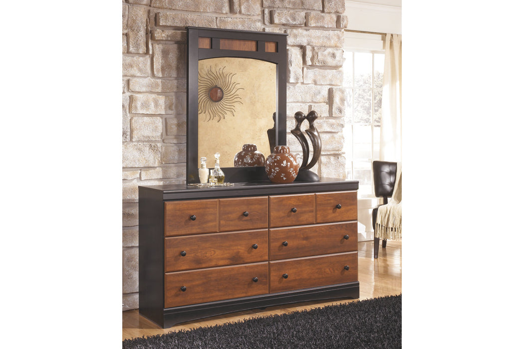 Signature Design Aimwell Wood Casual Dresser and Mirror