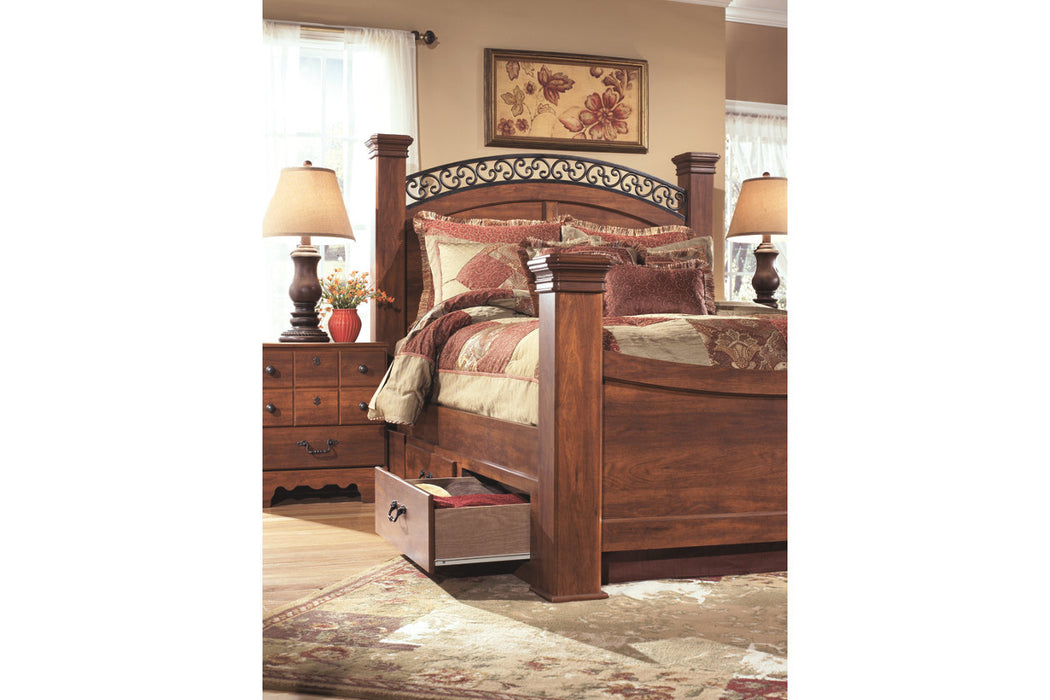 Signature Design Timberline Wood Casual Poster Bed With Storage
