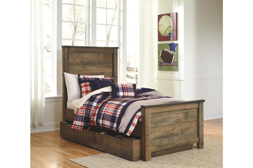 Signature Design Trinell Wood Casual Panel Bed With Storage