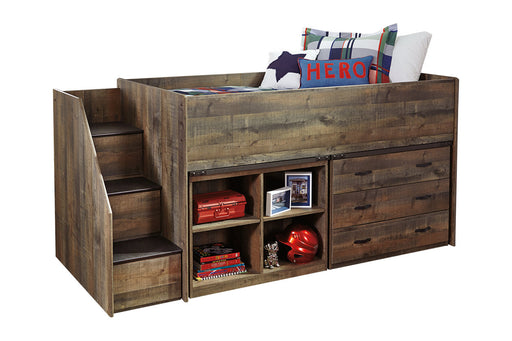Signature Design Trinell Wood Casual Loft Bed With Storage