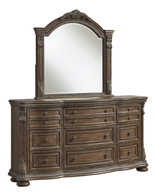 Signature Design Charmond Wood Traditional Dresser and Mirror