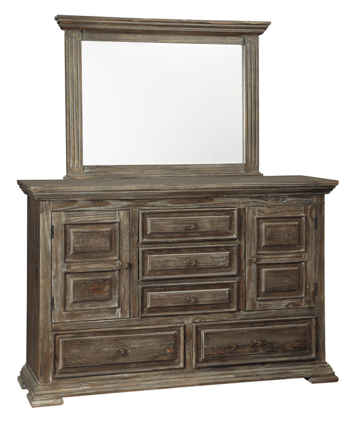 Signature Design Wyndahl Wood Casual Dresser and Mirror