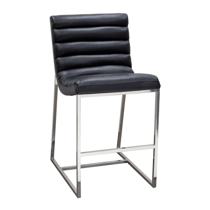 Bardot Counter Height Chair with Stainless Steel Frame - Elephant Grey