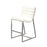 Bardot Counter Height Chair with Stainless Steel Frame - White