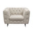 Catalina Tufted Chair with Metal Leg in Sand Fabric - Sand