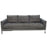 Chateau Loose Pillow Back Sofa in Azure Grey Fabric and Polished Leg - Grey