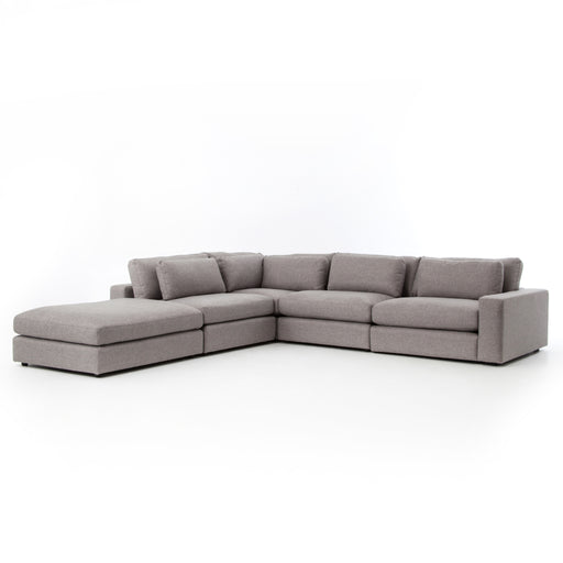 Kensington Collection Bloor 4 Pc Raf Sectional with Ottoman