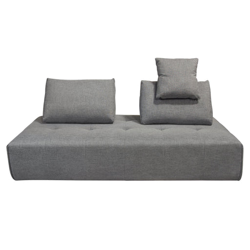 Cloud Lounge Seating Platform with Moveable Backrest Supports in Space Grey Fabric - Space Grey