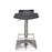 Dallas Hydraulic Adjustable Height Bar Stool in Weather Black Leatherette Seat - Black