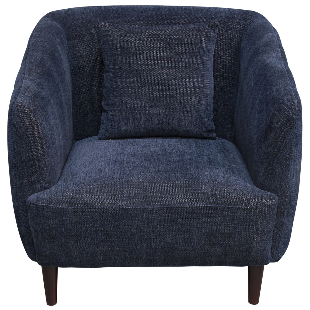 DeLuca Midnight Blue Fabric Chair - Navy
