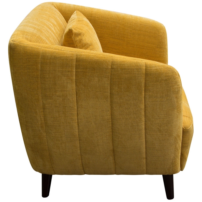 DeLuca Dijon Yellow Fabric Chair - Dijon