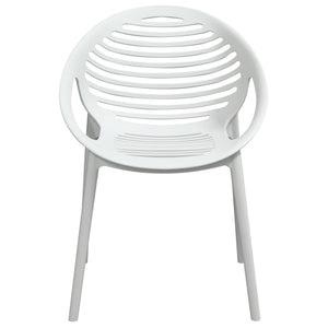 Expo 4-Pack Indoor Outdoor Accent Chairs in White Polypropylene - White