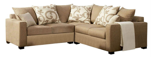 Fabric Sectional Sofa Filigree Beige Transitional Sofa Shack