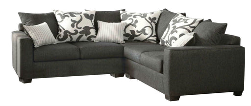 Fabric Sectional Sofa Filigree Gray Charcoal Transitional Sofa Shack
