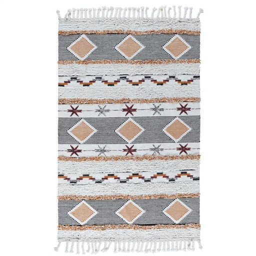 Fortuna Kilim Shag Multi Wool Cotton Blend rug sofashack.com sofa shack fringe southwest rug tempe az phoenix arizona furniture store