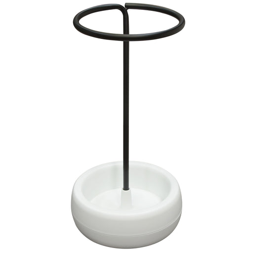 Gigi Umbrella Holder Stand with Black Metal and White Polypropylene - Black/White