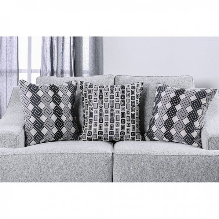 Lesath Textured Chenille Light Gray Contemporary Sofa