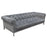 Monroe Tufted Sofa in Royal Platinum Grey Velvet with Brushed Stainless Steel Trim and Leg - Grey