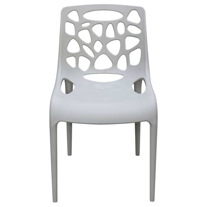 Phenomenal Ocean 4 Pack Indoor Outdoor Accent Chairs In Grey Polypropylene Gmtry Best Dining Table And Chair Ideas Images Gmtryco