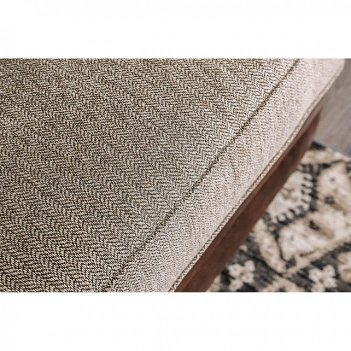 Reyna Solid Wood Frame Warm Gray/Brown Transitional Sofa