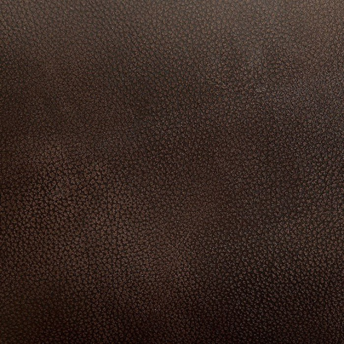 Ruth Top Grain Leather Match Brown Transitional Sofa