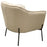 Status Accent Chair in Cream Fabric with Black Powder Coated Metal Leg - Cream