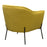 Status Accent Chair in Yellow Fabric with Metal Leg - Yellow