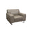 Vera Leatherette Chair with Metal Leg - Sandstone
