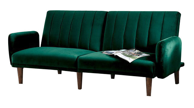 Adrianne Green Solid Wood Glamour Arms Futon