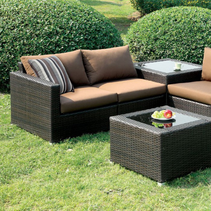 Alago Patio Brown Sectional Set
