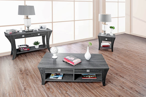 Amity Gray Transitional End Table