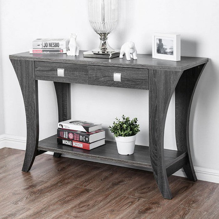 Amity Gray Transitional Sofa Table