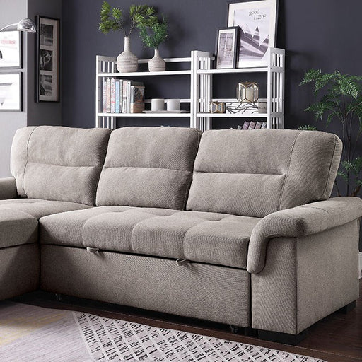 Anabel Linen Contemporary Sleeper Sofa Sectional — Sofa Shack