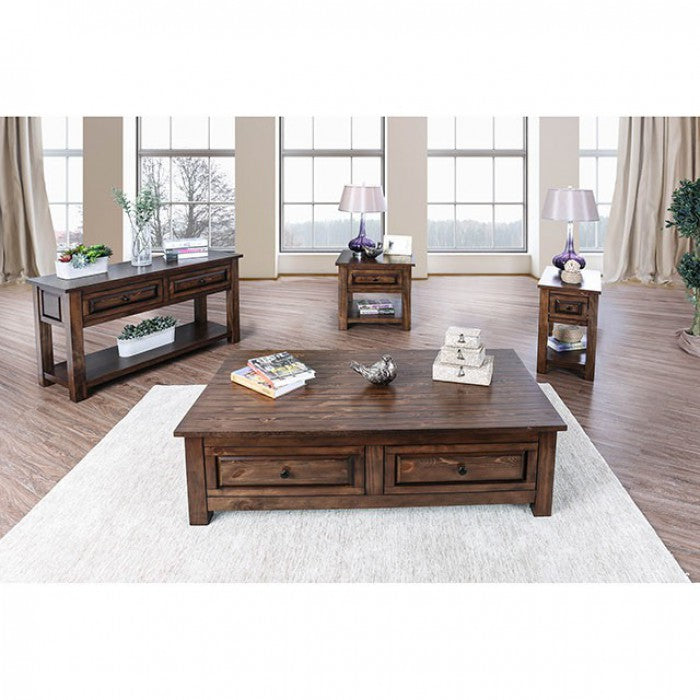 Annabel Walnut Transitional Coffee Table