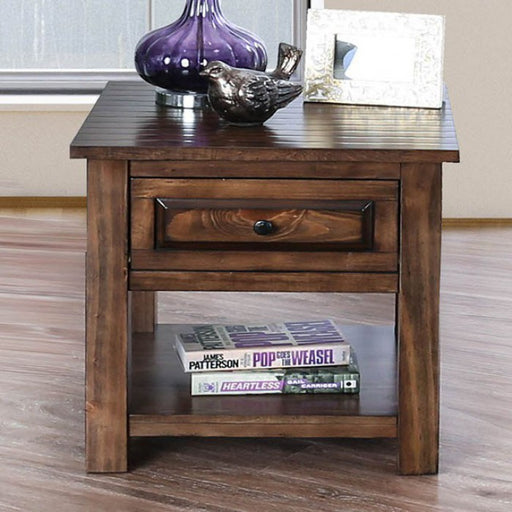 Annabel Walnut Transitional End Table