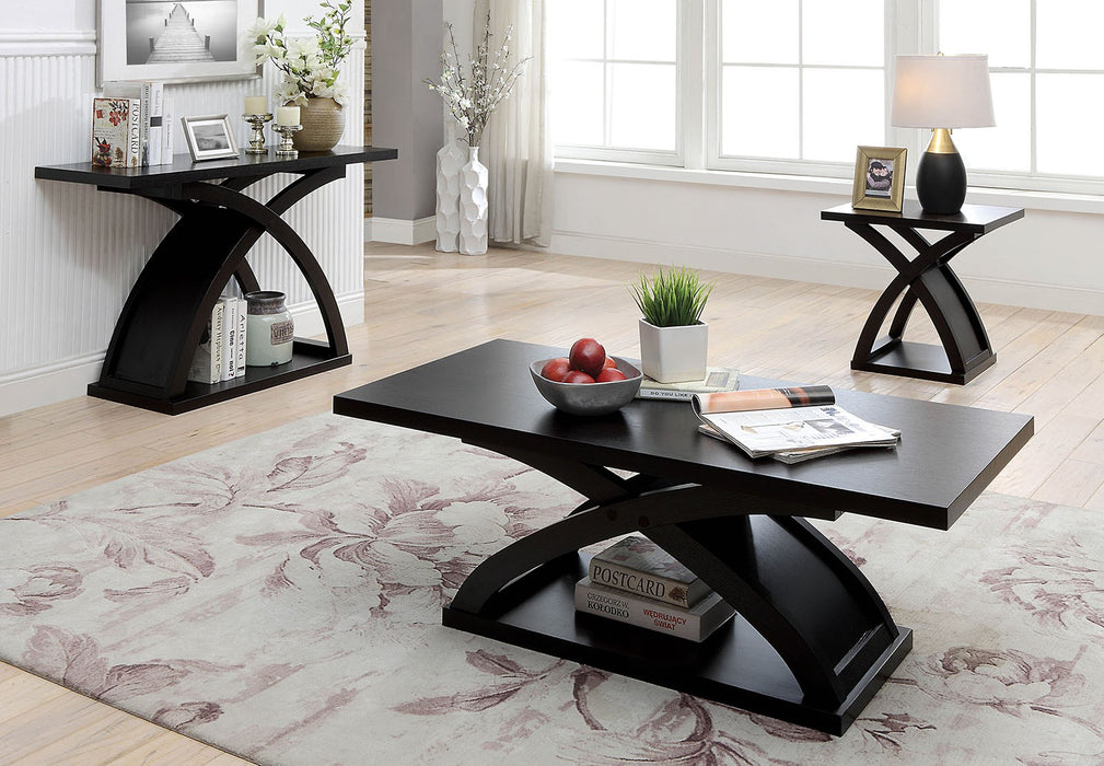 Arkley Espresso Contemporary End Table