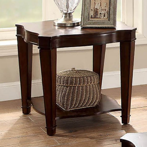 Ashleigh Walnut Transitional End Table
