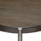 "Atwood 22"" Round End Table with Grey Oak Veneer Top and Brushed Silver Metal Base - Grey/Silver"