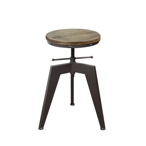 Austin Vintage Adjustable Height Stools With Weathered Grey Seat