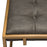 Babylon Small Accent Ottoman With Brushed Gold Frame And Padded Seat In Weathered Grey Pu