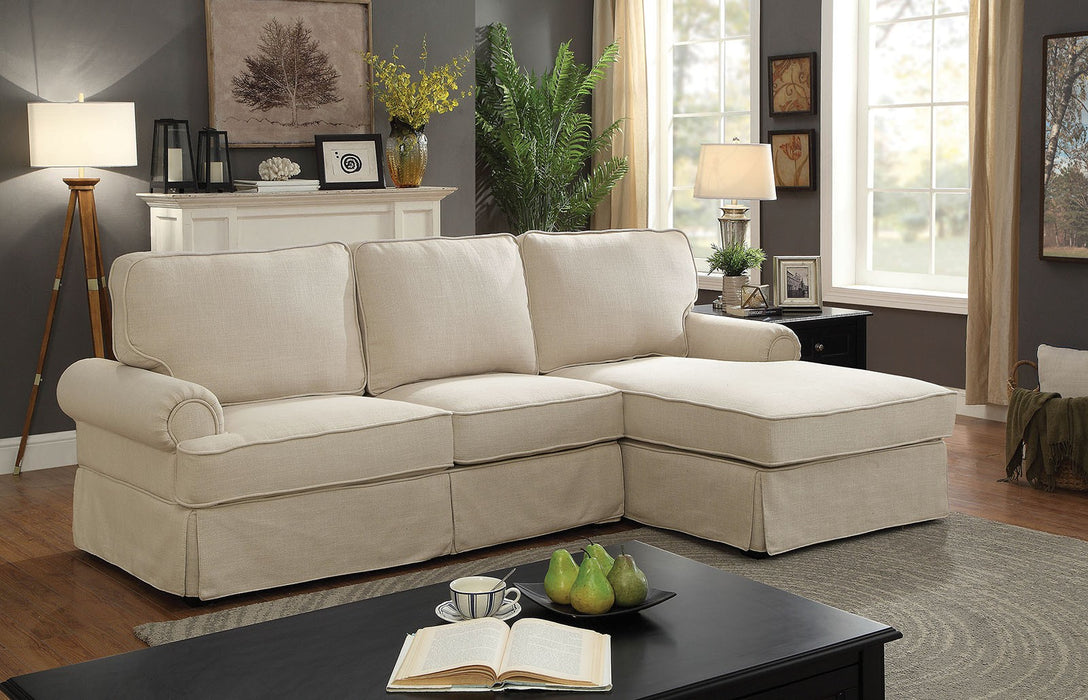 Badalona Ii Linen Beige Transitional Sectional