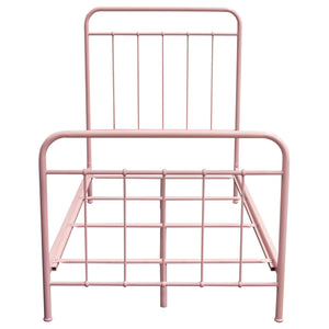Bailey Pink Powder Coat Metal Twin Bed - Pink