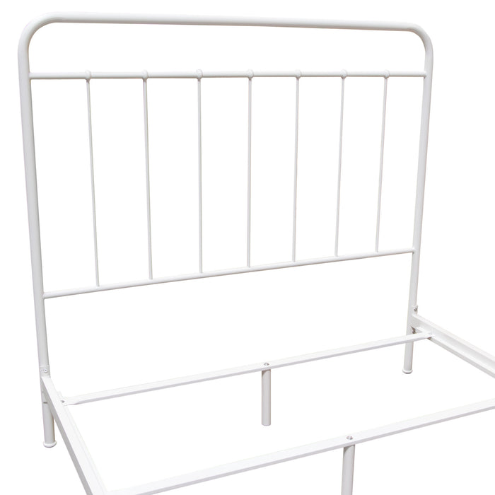Bailey White Powder Coat Metal Full Bed - White