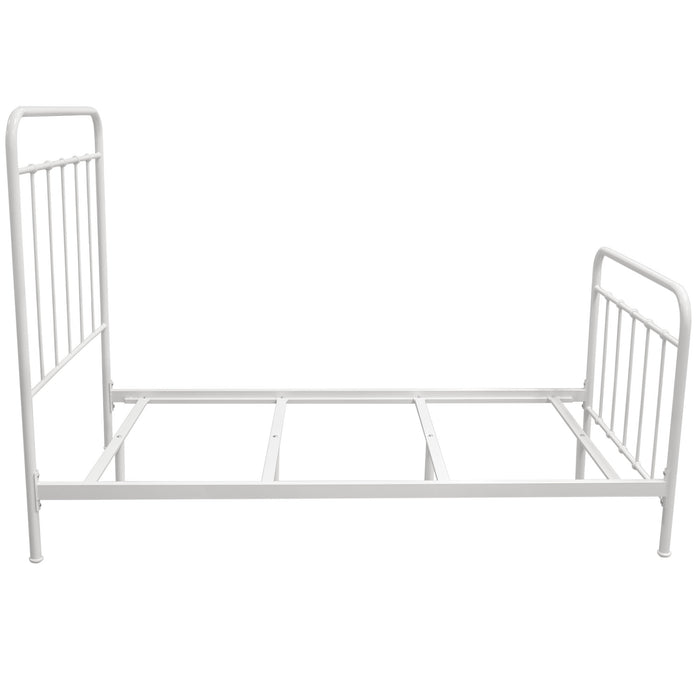 Bailey White Powder Coat Metal Twin Bed - White