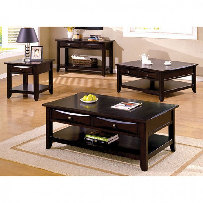 Baldwin Solid Wood Espresso Transitional Sofa Table