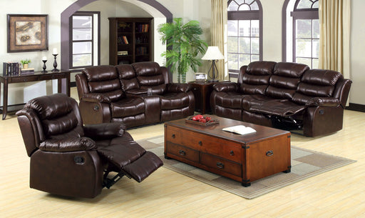 Berkshire Leather Rustic Brown Transitional Recliner