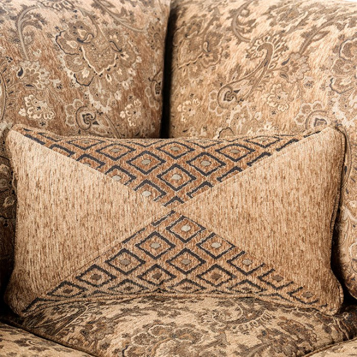 Cassandra Tan Chenille Traditional Style Sectional