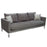 Chateau Loose Pillow Back Sofa and Loveseat 2PC Set in Azure Grey Fabric and Polished Leg - Grey