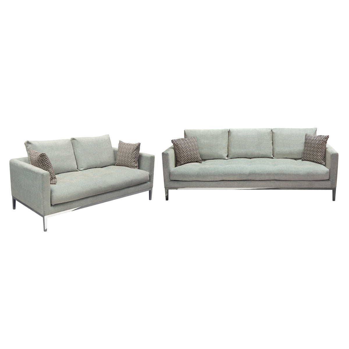 Loose Pillow Back Sofa: Chateau Loose Pillow Back Sofa And Loveseat 2PC Set In
